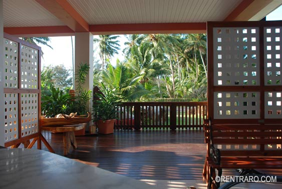 from the sliding doors to the veranda at Aito Rarotonga Cook Islands
