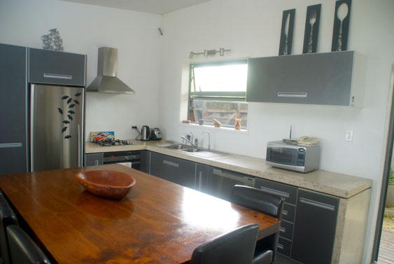 fully equipped modern kitchen at Beach Haven