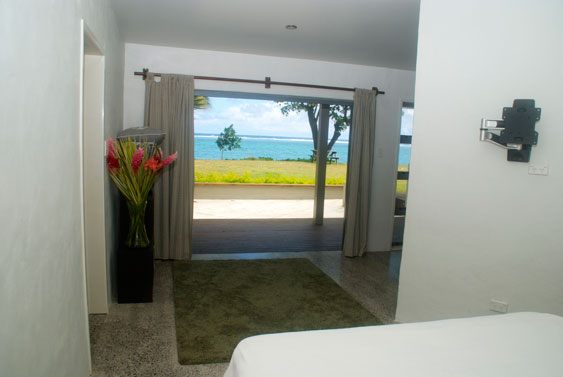 View from the Beach Haven bed through sliding doors