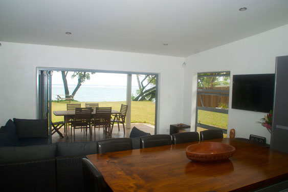 view from the kitchen at Beach Haven, Rarotonga, Cook Islands