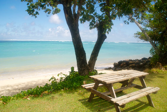 wide uninterrupted views of the at Beach Haven, Rarotonga, Cook Islands