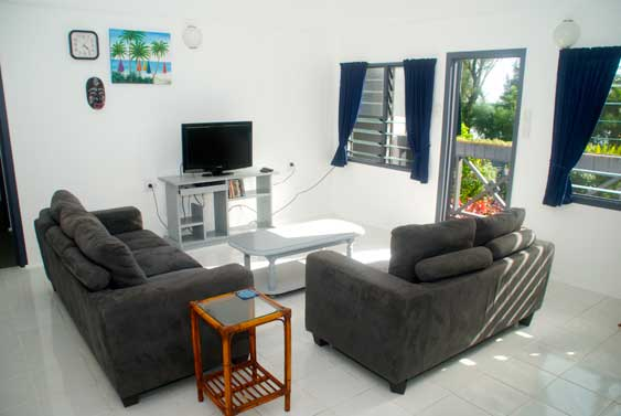 A one bedroom duplex that is light, airy and has a very restful vibe to it