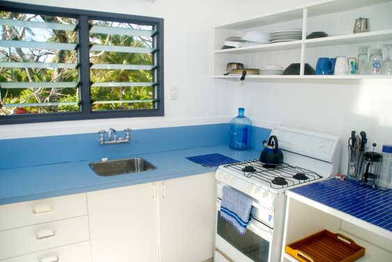 A full kitchen at Cook Islands Sun