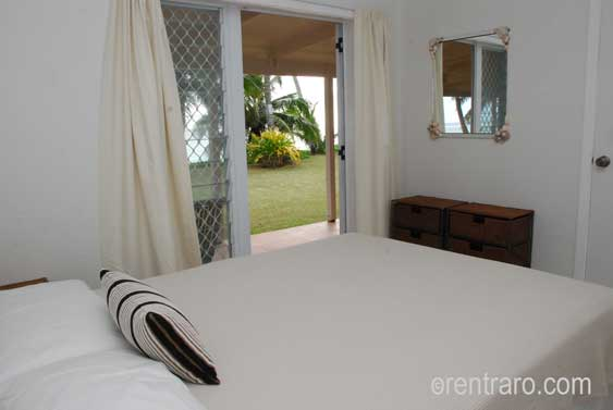 all bedrooms have private access to the beachfront verandah