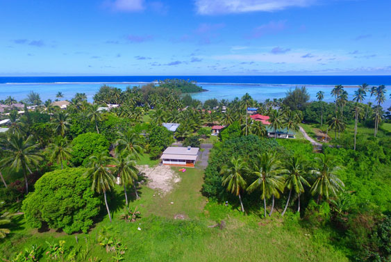 No neighbors just lush growth, Cook Islands