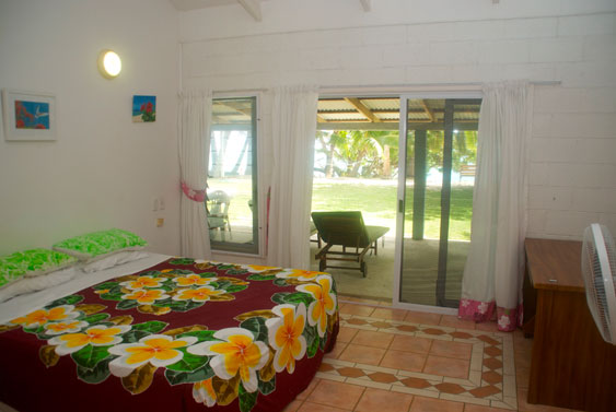 The master bedroom has a queen and a single, Rarotonga, Cook Islands