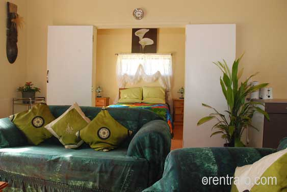 very roomy living area with quality and comfort in mind at Aromas, Rarotonga, Cook Islands