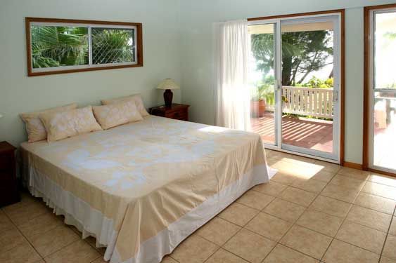 the second master bedroom at Heritage, Rarotonga Cook Islands
