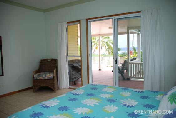 Super king-size beds in each main bedroom at Heritage, Rarotonga, Cook Islands