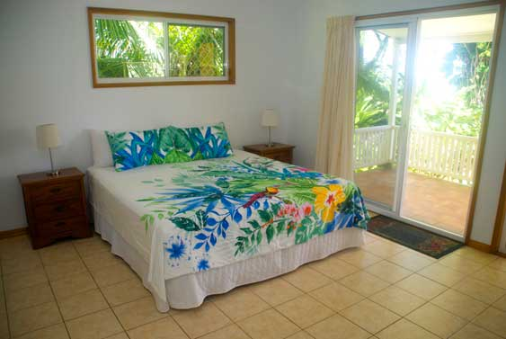 the two main bedrooms open out to the veranda and have ensuites