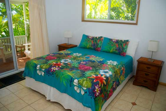 King-size beds in each main bedroom at Heritage, Rarotonga, Cook Islands