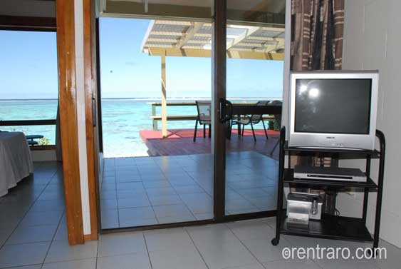 ocean views from the cosy living area with TV, DVD and sound system