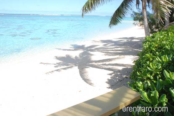 view from the veranda of islander on the beach, white sand and blue water
