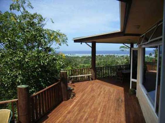 breathtaking views of the ocean from the veranda at Kathys