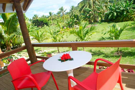 Lyas Bungalows offer sheltered privacy and stunning tropical mountain views.