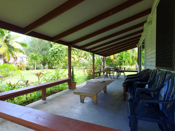 good size covered verandah for outside relaxing