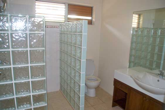 large ensuites with shower, toilet and vanity