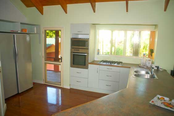 spacious modern kitchen, perfect for cooking breakfasts, lunches and dinners for large groups