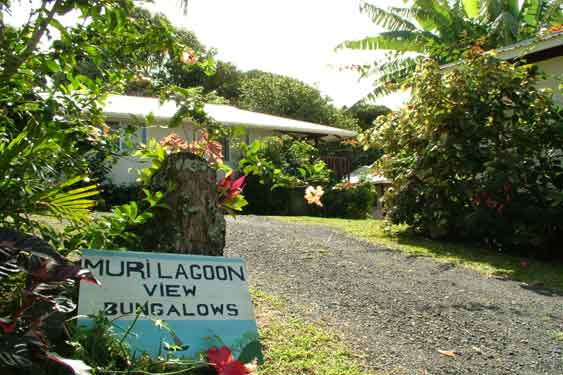 overlooking Muri lagoon, four stylish studio bungalows