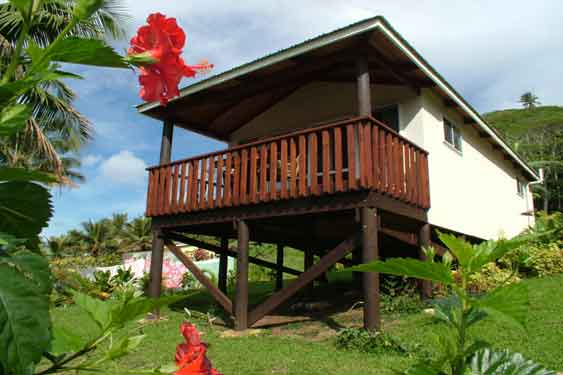 exterior view of Muri Lagoon View Bungalows, Rarotonga, Cook Islands