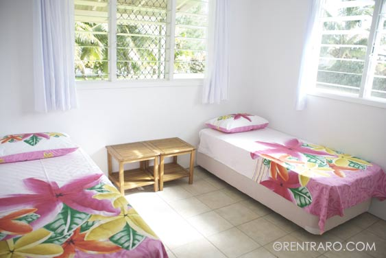 one of 3 bedrooms at Rukuruku, Rarotonga, Cook Islands