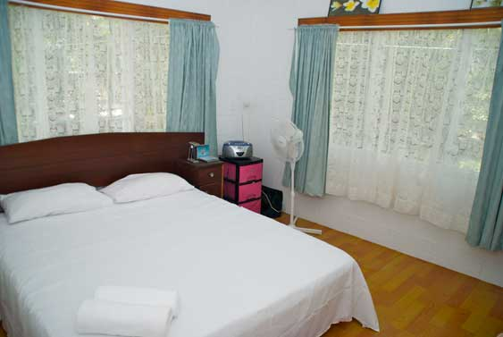 master bedroom at Muri Beach Haven