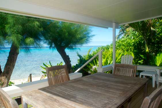 Excellent Outdoor seating, Muri, Rarotong, Cook Islands