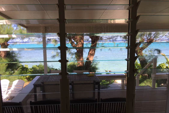 From the living room at Torea, Muri, Rarotong, Cook Islands