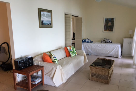 main living area at Torea, Muri, Rarotong, Cook Islands